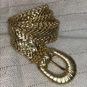 Gold braided belt